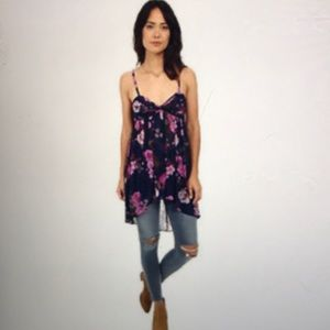 Free People Ruched Tunic Top